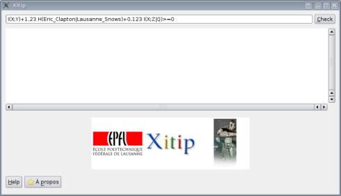 Xitip screenshot, the French version